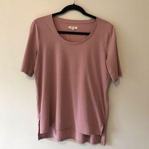 Madewell Blush Short Sleeve Tee Shirt Top